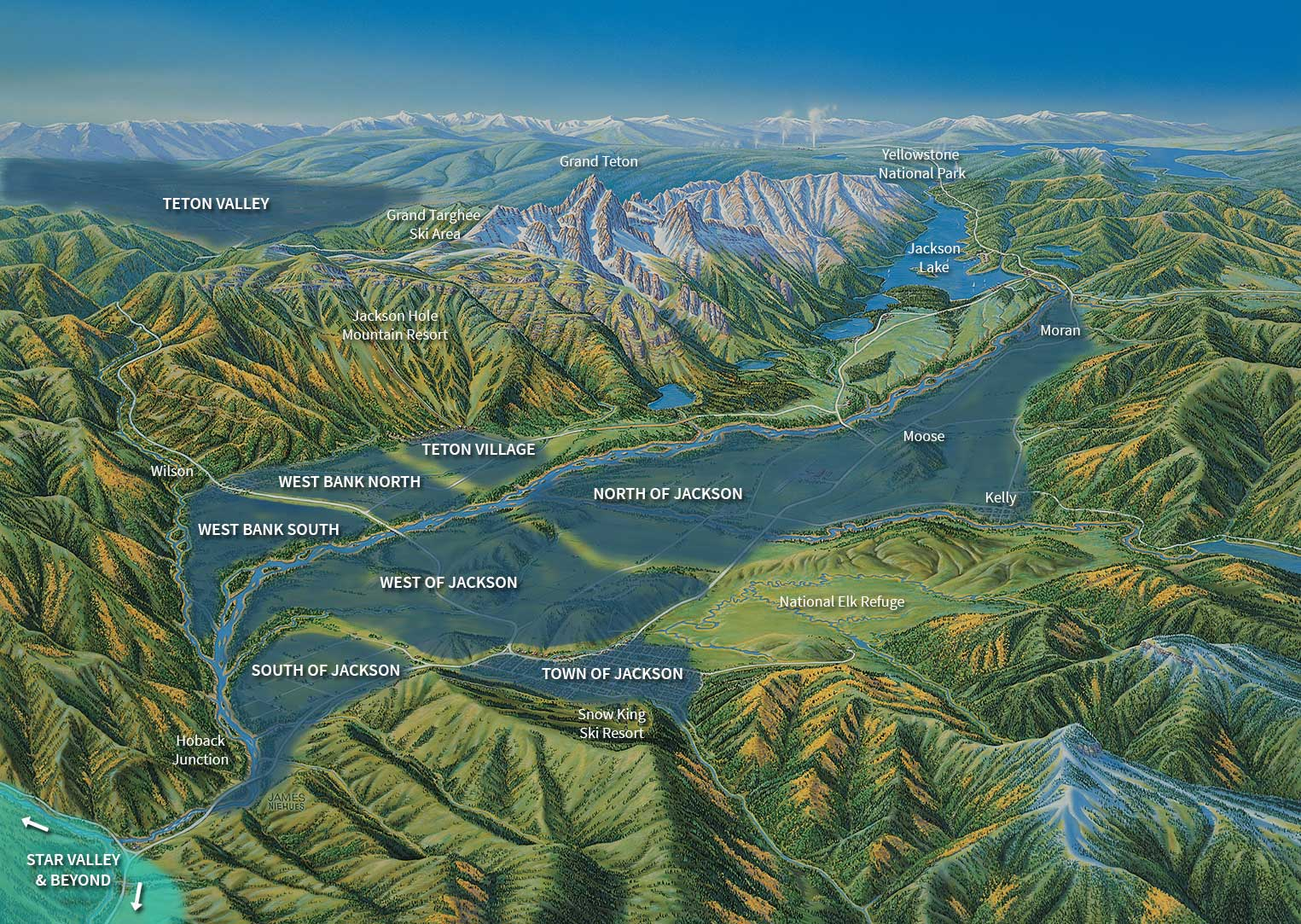 Star Valley Wyoming Map map starvalley | Jackson Hole, Wyoming Real Estate   JH Property Group